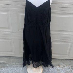 Black sundress with lace trim 22w